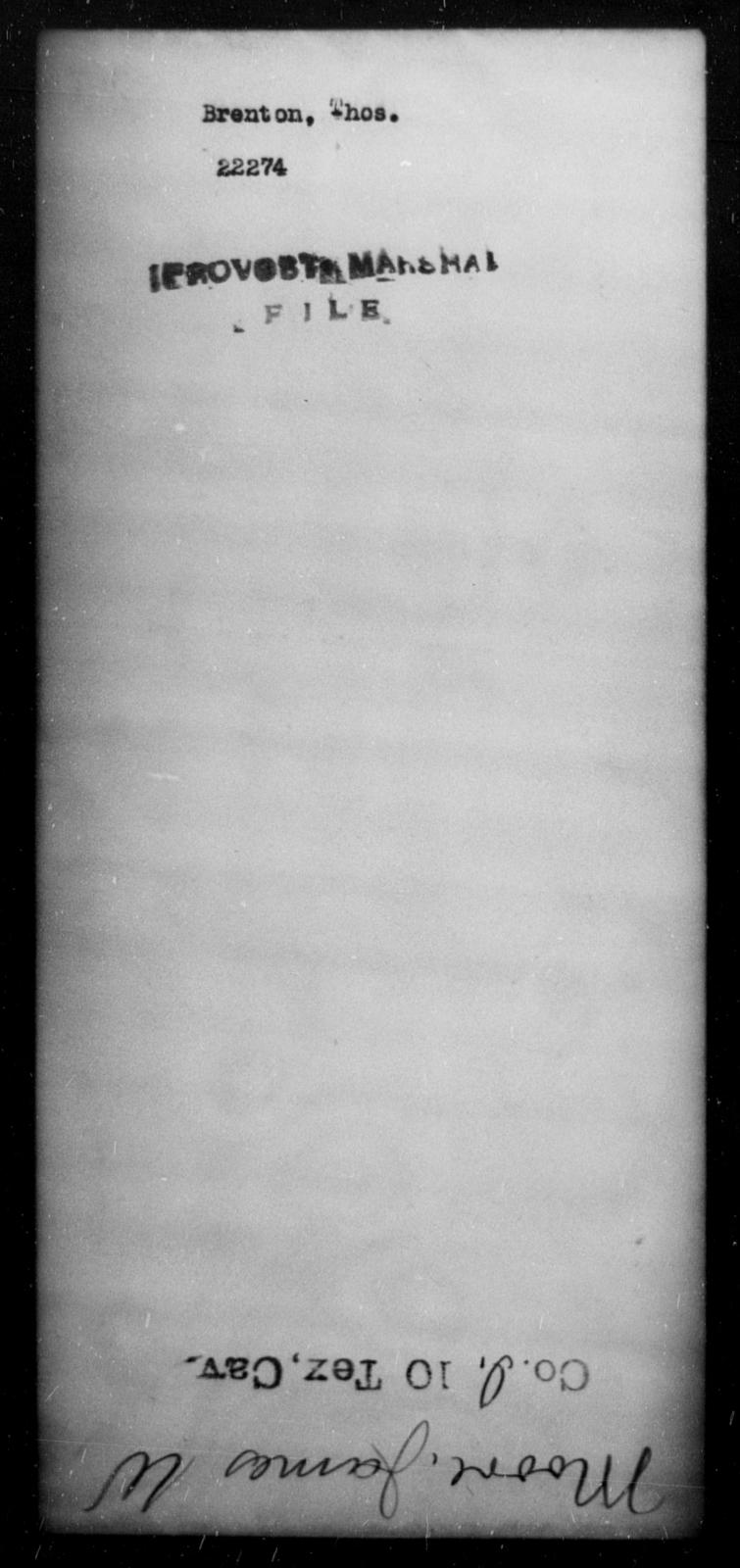 Brenton, Thos - State: [Blank] - Year: [Blank]