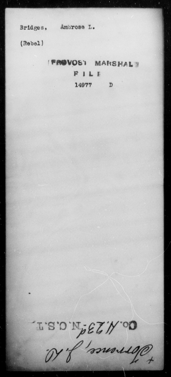 Bridges, Ambrose L - State: [Blank] - Year: [Blank]