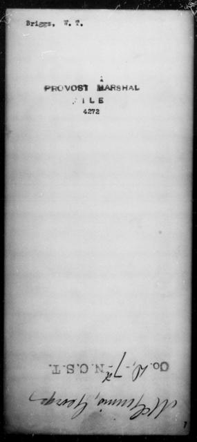 Briggs, W T - State: [Blank] - Year: [Blank]