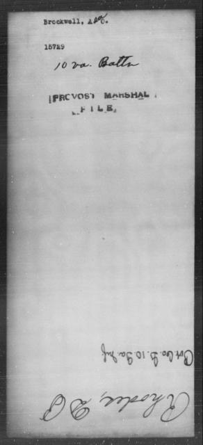 Brockwell, Asac - State: Virginia - Year: [Blank]