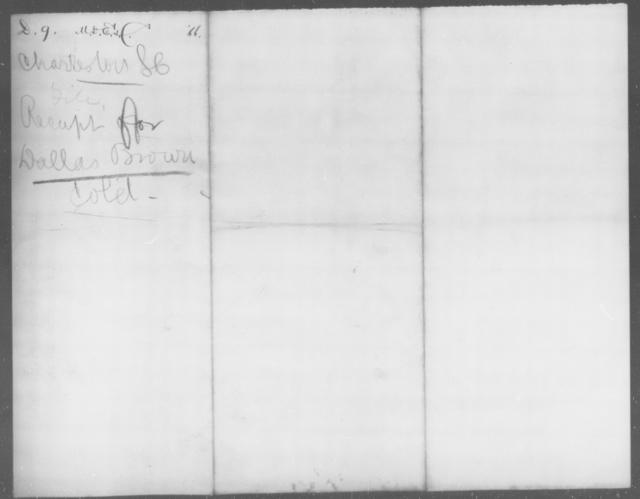 Brown, Dallas - State: South Carolina - Year: 1864