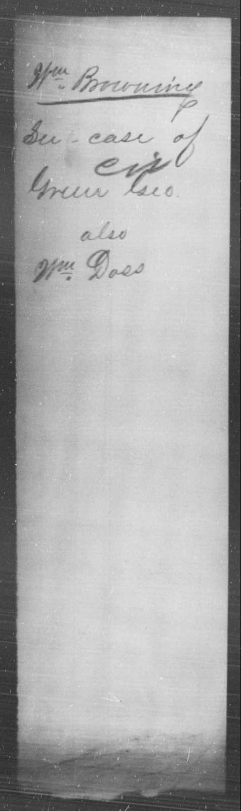 Browning, Wm - State: [Blank] - Year: [Blank]
