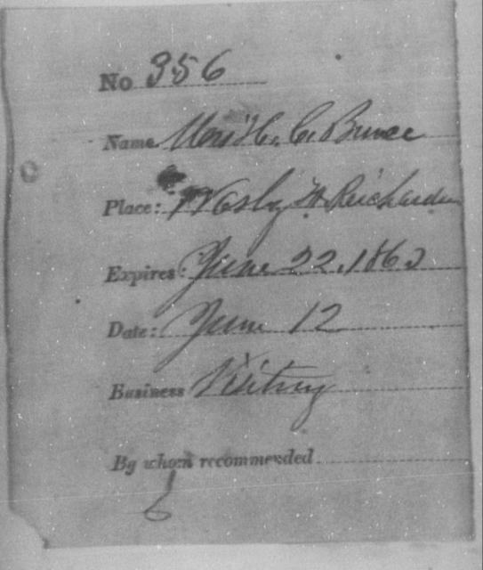 Bruce, H C - State: Washington - Year: 1863
