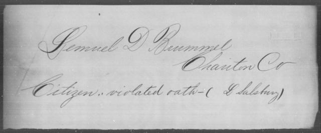 Brummell, Lemuel D - State: [Blank] - Year: [Blank]