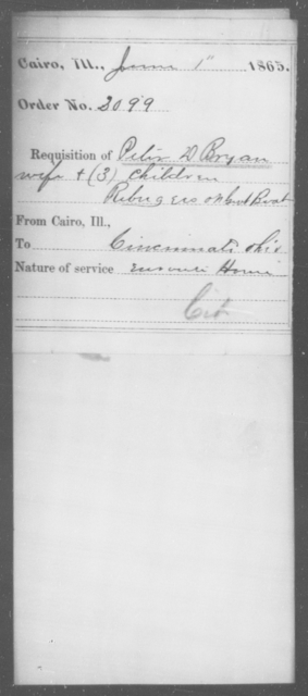 Bryan, Peter D - State: Illinois - Year: 1865