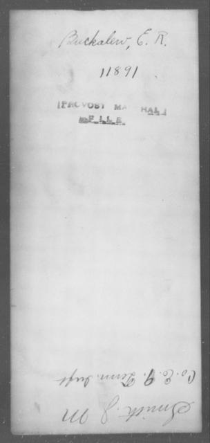 Buckalew, E R - State: [Blank] - Year: [Blank]