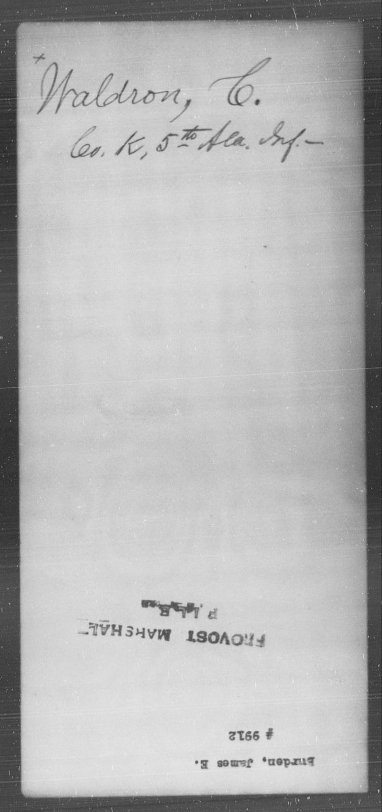 Burden, James E - State: [Blank] - Year: [Blank]
