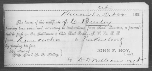 Burley, J C - State: Ohio - Year: 1861