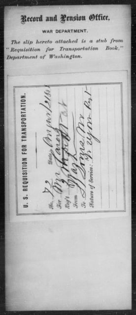 Carey, [Blank] - State: Washington - Year: 1861