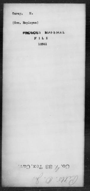 Carey, M - State: [Blank] - Year: [Blank]