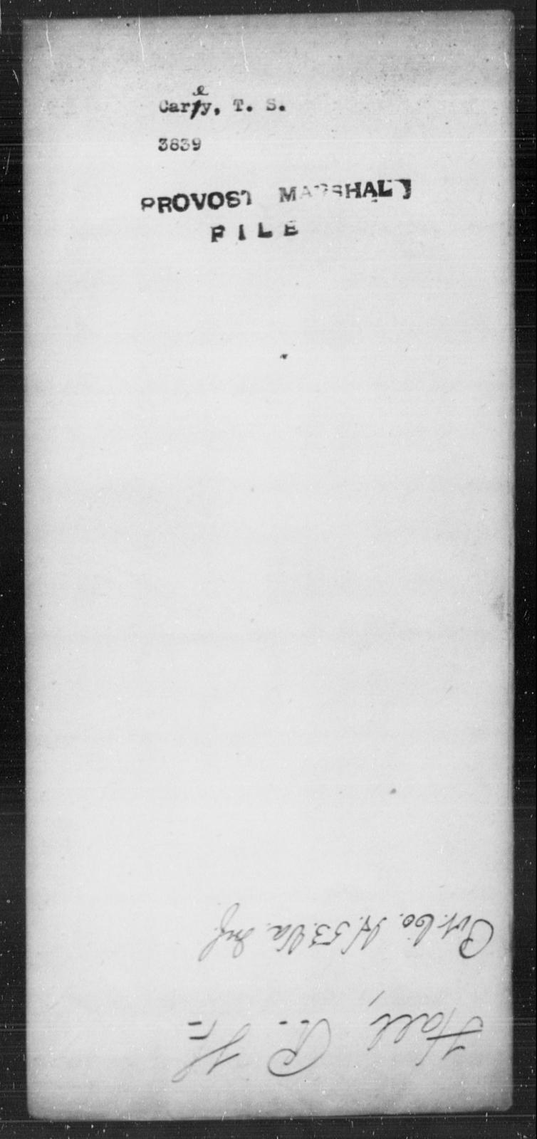 Carey, T S - State: [Blank] - Year: [Blank]