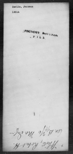 Carlin, Jackson - State: [Blank] - Year: [Blank]