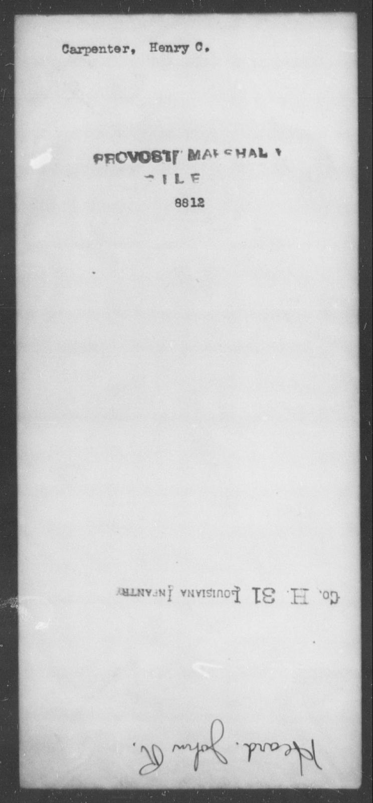 Carpenter, Henry C - State: [Blank] - Year: [Blank]