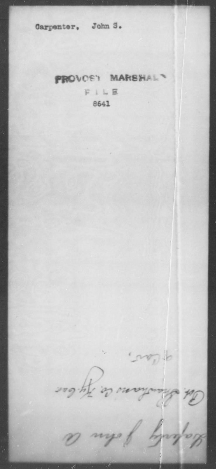 Carpenter, John A - State: Kentucky - Year: 1862