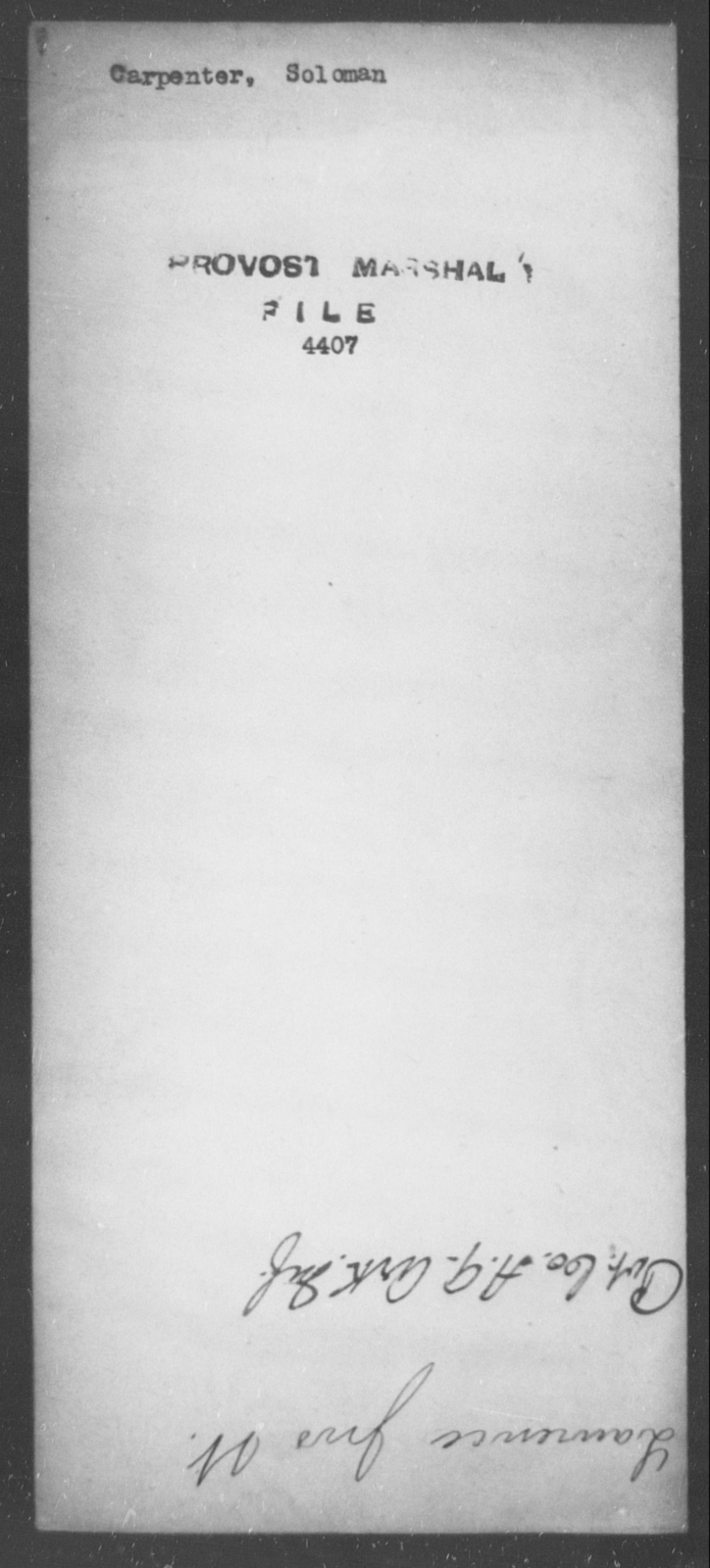 Carpenter, Soloman - State: [Blank] - Year: [Blank] | U S  National