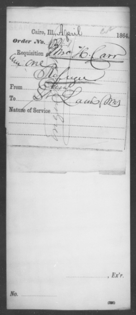 Carr, Jno H - State: Illinois - Year: 1864