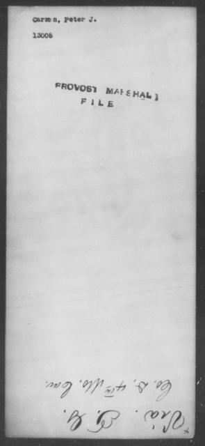 Carron, Peter J - State: [Blank] - Year: [Blank]