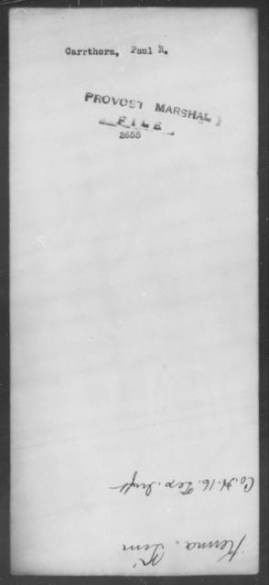Carrthora, Paul R - State: [Blank] - Year: [Blank]