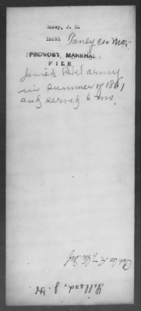Casey, J M - State: Missouri - Year: 1861