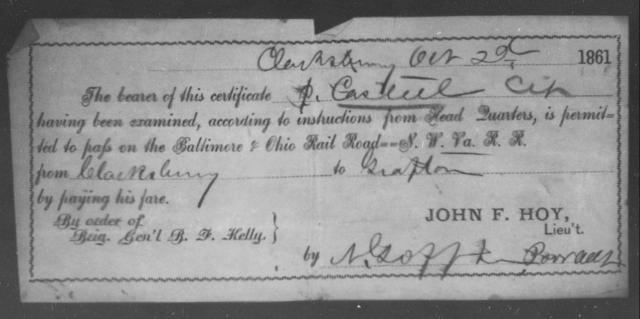 Casteel, P - State: Ohio - Year: 1861