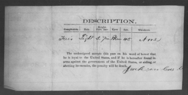 Casteton, Jackson - State: Ohio - Year: 1861