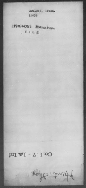 Caulker, Green - State: [Blank] - Year: [Blank]