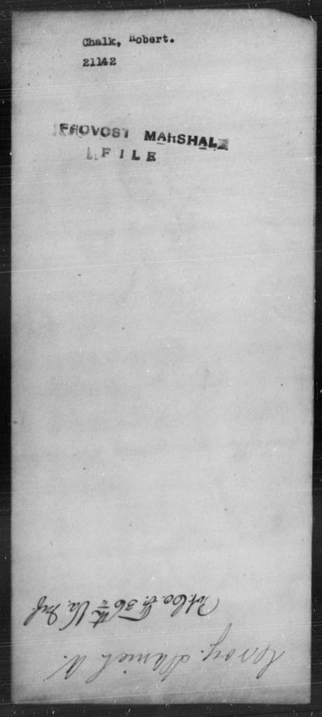 Chalk, Robert - State: [Blank] - Year: [Blank]
