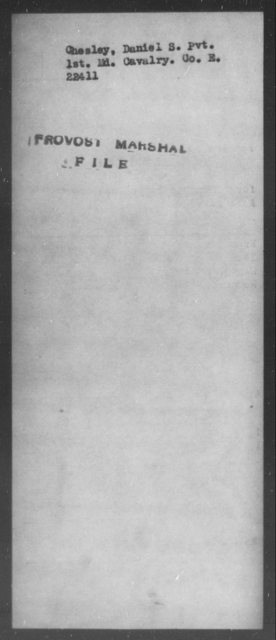 Chesley, Daniel S - State: Maryland - Year: [Blank]