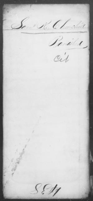 Churchill, Saml R - State: [Blank] - Year: 1863