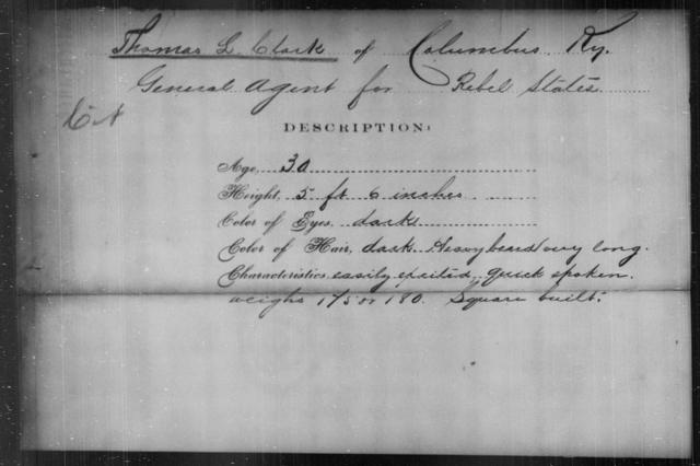 Clark, Thomas L - State: Kentucky - Year: [Blank]