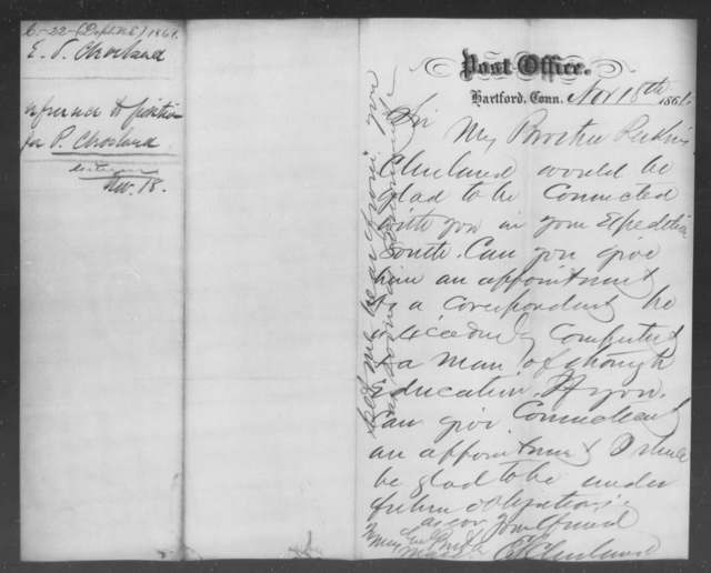 Cleveland, P - State: Connecticut - Year: 1861