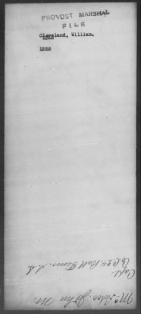 Cleveland, William - State: [Blank] - Year: 1863