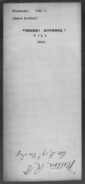Clevenger, John J - State: [Blank] - Year: [Blank]