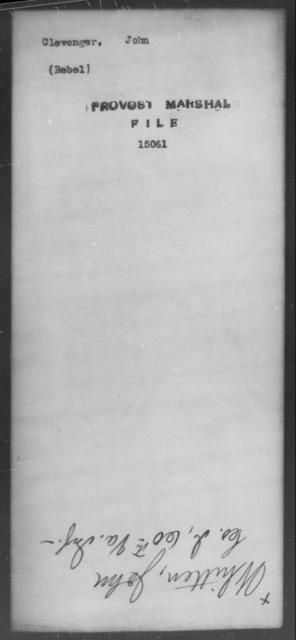 Clevenger, John - State: [Blank] - Year: [Blank]