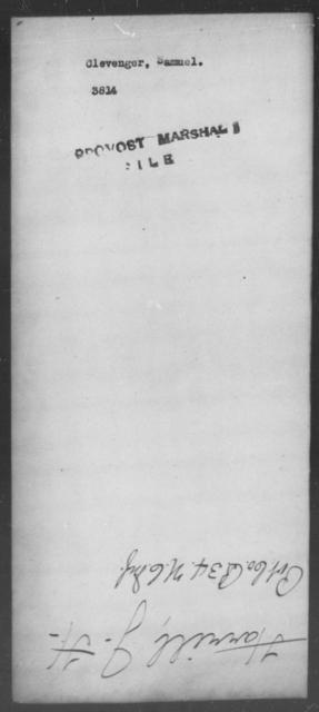 Clevenger, Samuel - State: [Blank] - Year: [Blank]