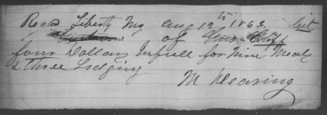 Cliff, Gus - State: Missouri - Year: 1865