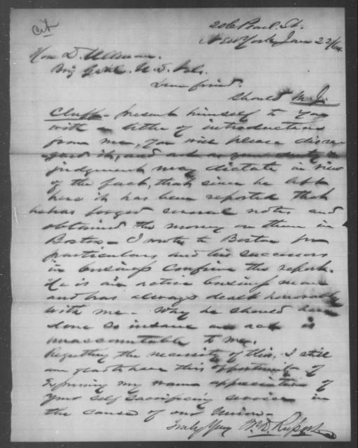 Cluff, M J - State: [Blank] - Year: 1864