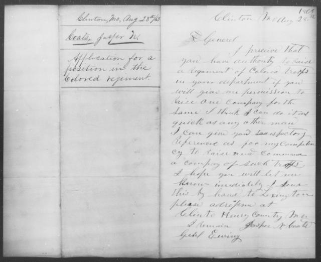 Coats, Jasper N - State: Missouri - Year: 1863