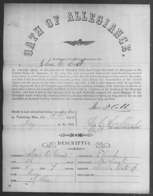 Cobb, John D - State: Massachusetts - Year: 1863