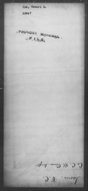 Coe, Edward M - State: [Blank] - Year: [Blank]