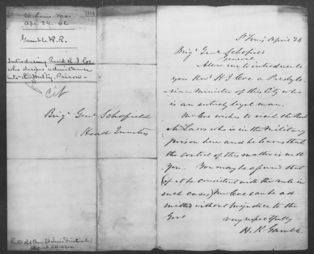 Coe, H J - State: Missouri - Year: 1862