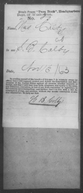 Colby, [Blank] - State: Washington - Year: 1863