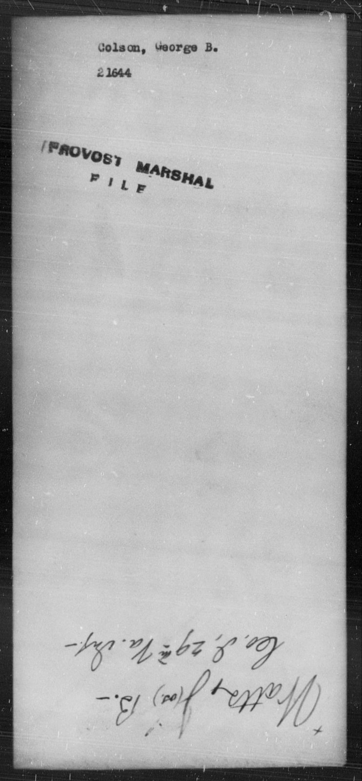 Colson, George B - State: [Blank] - Year: [Blank]