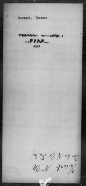 Colvert, Spencer - State: [Blank] - Year: [Blank]