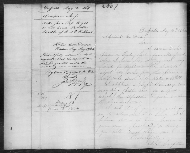Compton, M J - State: Arkansas - Year: 1864