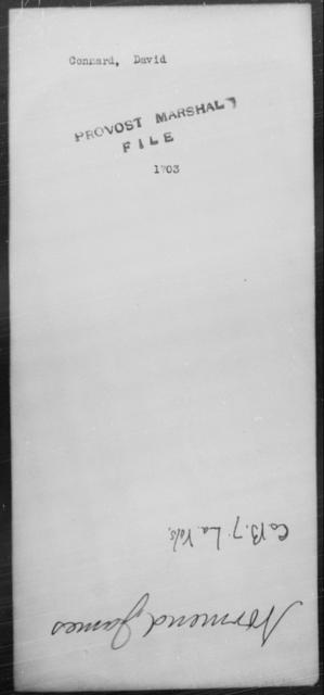 Connard, David - State: Virginia - Year: [Blank]