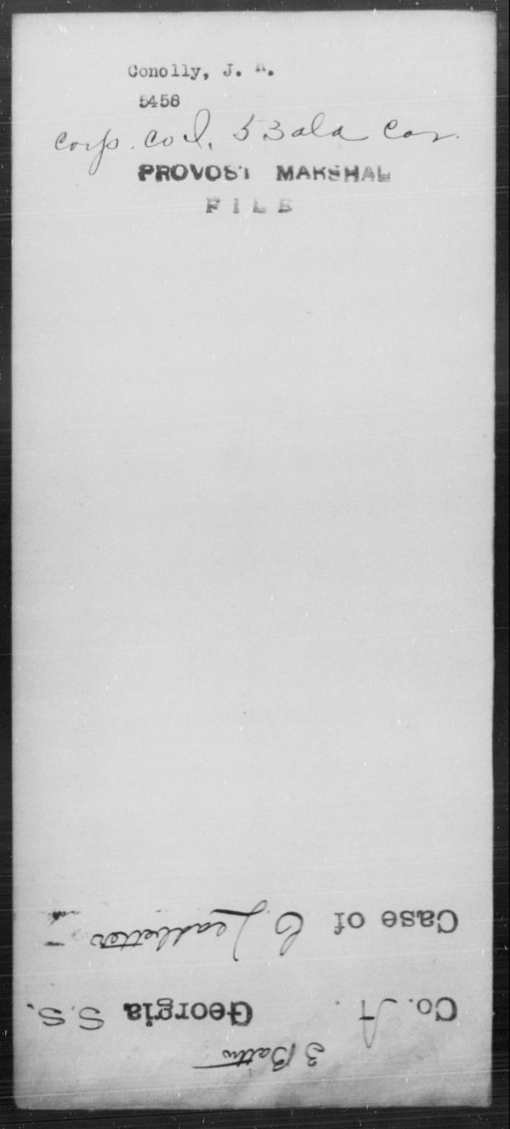 Conolly, J R - State: [Blank] - Year: [Blank]