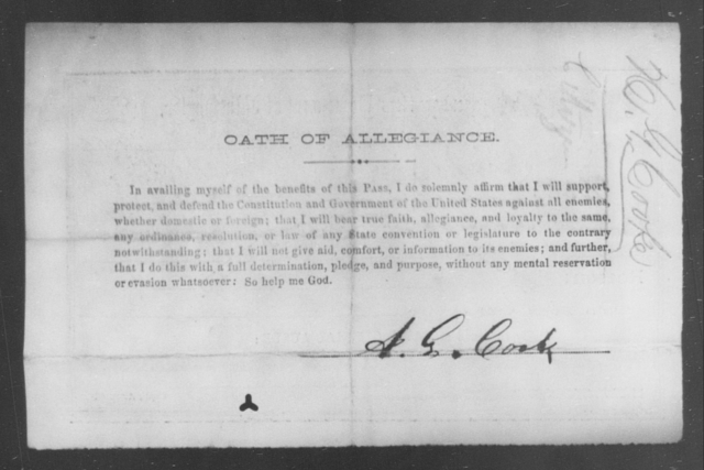 Cook, A G - State: District of Columbia - Year: 1865