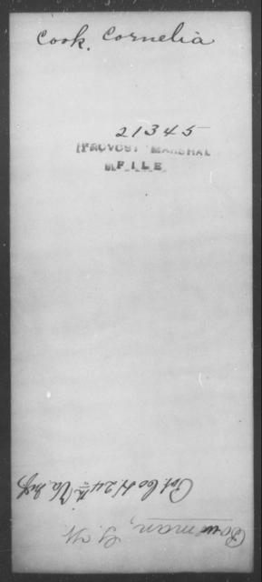 Cook, Cornelia - State: [Blank] - Year: [Blank]