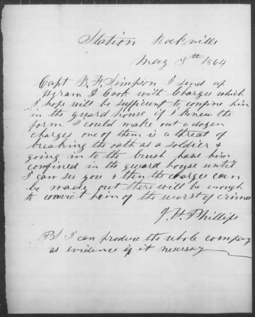 Cook, Henry D - State: [Blank] - Year: 1864